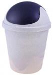 2543 Контейнер для мусора  5,5л (мраморный/темно-серый) 1/18 Plastic Centre