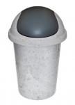 2547 Контейнер для мусора  10л (мрамор) Plastic Centre