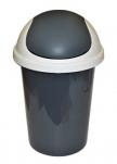 2547 Контейнер для мусора  10л (темно-серый) Plastic Centre