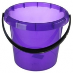 """3603 Ведро """"Омега"""" 10л (фиолетовый) прозрачный Plastic Centre"""