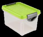 1003 Ящик для хранения Systema 48л (зеленый) прозрачный 1/4 BranQ