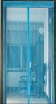 Сетка москитная на дверь на магнитах (210см*100см) голуб. 1/40
