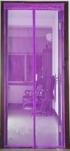 Сетка москитная на дверь на магнитах (210см*120см) фиолетовый