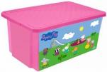 """0025 Детский ящик для хранения игрушек """"X-Box"""" """"Свинка Пеппа"""" 57л (розовый) 1/5 Little Angel"""