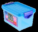 """0052 Детский ящик для хранения мелочей """"Свинка Пеппа"""" 5,1л (голубой) 1/8 Little Angel"""