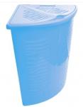 1700 Корзина для белья Aqua 40л угловая (бирюза) 1/7 BranQ