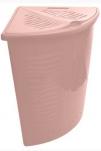 1700 Корзина для белья Aqua 40л угловая (йогуртовый) BranQ