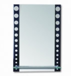 607 Зеркало 700*500мм, с полочкой Accoona
