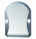 610 Зеркало 800*600мм, с полочкой, 2 светильника Accoona