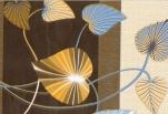 25-1 Клеенка ДЕКОМИР 1,35м*20м листва желт/син.