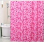 015D1 Шторы д/ванн ПВХ AQUA-PRIME 180*180см Розовая