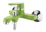 6366K Cмеситель для ванны, с  боковым шаровым переключателем в корпусе. Зеленый. Accoona