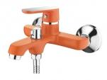 6366P Cмеситель для ванны, с  боковым шаровым переключателем в корпусе. Оранжевый. Accoona