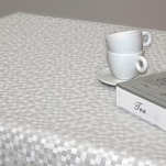 PLZ140556-WH Клеенка Polyline 1,4*15м Дижон белый (Ткань с покрытием)