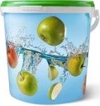 Ведро герметичное пищевое 10л. Яблоки, JET 107/DET 267