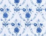 069/11 Клеенка на ткани 1,35*25м (синие цветы)