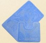 Коврик для в/к Standart  1пр. 40*60 голубой