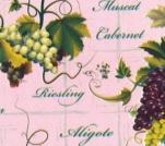 24-2 Клеенка ДЕКОМИР 1,35м*20м виноград роз.