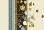 25-3 Клеенка ДЕКОМИР 1,35м*20м листва желт/коричн.