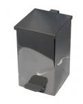 Ведро квадратное д/мусора  10л хром