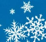 047/4 Клеенка Пермь ткан.основа 1,4м*25м Новый год снежинки белые на голубом