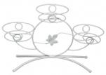 """Подставка д/цветов """"Камелия3"""" (белое серебро) 480*160*300 подоконник"""