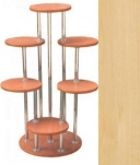 Подставка д/цветов 1,0м Н клен (6мест, 7труб (1м-3тр, 0,75м-2тр, 0,5м-2тр))