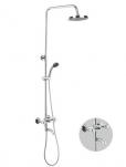 8393 Штанга со смесителем и тропическим душем. Accoona