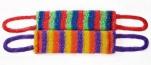 Мочалка Радуга 11*43см (махр.полотно, поролон), средн.жестк.