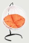 Кресло подвесное Ротанг 8мм. Белый К4