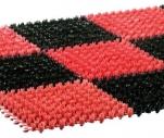 Коврик Травка модульный 42*56см черно-красный