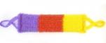 Мочалка Радуга с широк.полосой 11*43см (махр.полотно, поролон), средн.жестк.