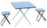 "81-562 Н-р мебели ""симпл сет"", стол + 2табурета, 80*60*49см, алюминий, WILDMAN 1/1"