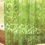 903 Шторы Тайвань (Листья зеленые) 180х180см 1/24