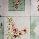 007А Клеенка Paloma 1,4*20м ( цветы на зеленой клетке )