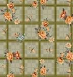 341 Клеенка Paloma 1,4*20м ( розы на клетке)
