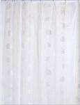 0799D1 Шторы д/ванн ПВХ AQUA-PRIME 180*180см Белая с ракушками