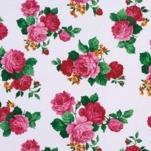 23015 Клеенка ВЕРОНА на нетканной осн.1,37*25м мод. SJ264А роз.букеты на белом