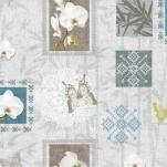 322.1 Клеенка Future 1,4*20м Белые орхидеи ПВХ на нетк.осн. с печат.рис.(Италия)