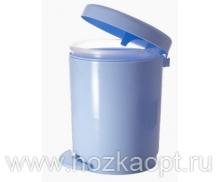 1306  Контейнер для мусора с педалью 6л (голубой) 1/4 Plastic Centre