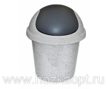 2546 Контейнер для мусора 7л (мрамор) Plastic Centre