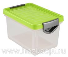1002 Ящик для хранения Systema 19л (зеленый) прозрачный 1/9 BranQ
