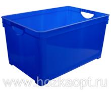 1004 Ящик для хранения универсальный 48л (синий) лего 1/6 BranQ