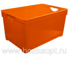 1005 Ящик для хранения универсальный 5,1л (оранжевый) 1/8 BranQ