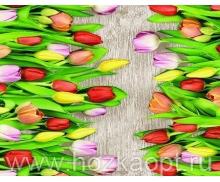 720 Клеенка Photoprint 1,4*20м Тюльпаны (Италия) ПВХ на нетк.осн.