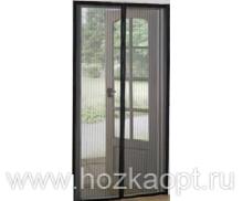 Сетка москитная на дверь на магнитах (210см*100см) черная 1/40