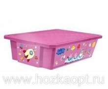 """0024 Детский ящик для хранения игрушек """"X-Box"""" """"Свинка Пеппа"""" 30л (розовый) 1/8 Little Angel"""