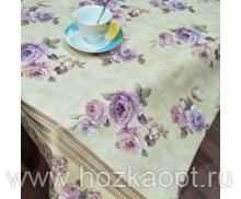 6310 Клеенка Flora 1,4*20м Эдем ПВХ на ткан..осн. с печат.рис. металлик TPW-1229А-S