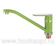 4166K Смеситель для кухни с гайкой. Зеленый. Accoona