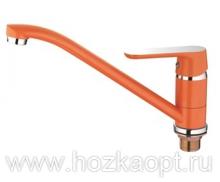4166P Смеситель для кухни с гайкой. Оранжевый. Accoona